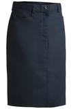 Women's Medium Length Chino Skirt Navy Thumbnail