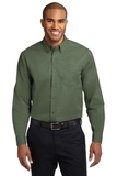 Extended Size Long Sleeve Easy Care Shirt Clover Green Thumbnail