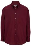 Men's Button Down Poplin Shirt LS Wine Thumbnail