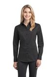 Women's Stretch Poplin Shirt Grey Smoke Thumbnail