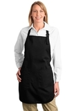 Full Length Apron With Pockets Black Thumbnail