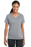 Women's Racermesh V-neck Tee Silver Thumbnail