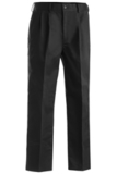 Men's Pleated Front Poly / Cotton Blended Chino Pant Black Thumbnail