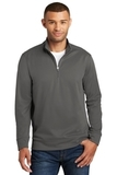 Performance Fleece 1/4Zip Pullover Sweatshirt Charcoal Thumbnail