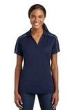 Women's Micropique Sport-wick Piped Polo True Navy with White Thumbnail