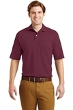 Spotshield Jersey Knit Polo With Pocket Maroon Thumbnail