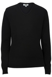 Women's Edwards V-neck Sweater-tuff-pil Plus Black Thumbnail