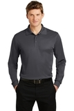 Long Sleeve Micropique Polo Shirt Iron Grey Thumbnail