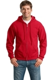 Full-zip Hooded Sweatshirt Red Thumbnail