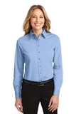 Women's Long Sleeve Easy Care Shirt Light Blue with Light Stone Thumbnail