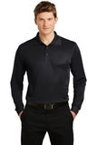 Long Sleeve Micropique Polo Shirt Black Thumbnail