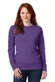 Women's French Terry Crewneck Sweatshirt Heather Purple Thumbnail