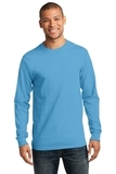 Essential Long Sleeve T-shirt Aquatic Blue Thumbnail