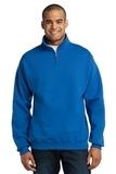 1/4-zip Cadet Collar Sweatshirt Royal Thumbnail