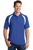 Dry Zone Colorblock Raglan Polo Shirt True Royal with White Thumbnail