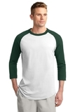Colorblock Raglan Jersey White with Forest Thumbnail