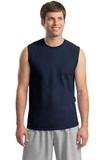 Ultra Cotton Sleeveless T-shirt Navy Thumbnail