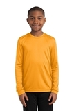 Youth Long Sleeve Competitor Tee Gold Thumbnail