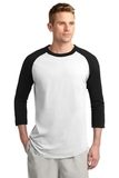 Colorblock Raglan Jersey White with Black Thumbnail