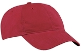 Brushed Twill Low Profile Cap Red Thumbnail