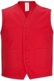 Two Pocket Apron Vest Red Thumbnail