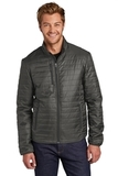Packable Puffy Jacket Sterling Grey with Graphite Thumbnail