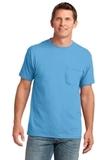 5.4-oz 100 Cotton Pocket T-shirt Aquatic Blue Thumbnail