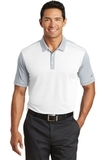 Nike Golf Dri-FIT Colorblock Icon Modern Fit Polo White with Wolf Grey Thumbnail