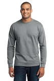 Long Sleeve 50/50 Cotton / Poly T-shirt Athletic Heather Thumbnail