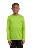 Youth Long Sleeve Competitor Tee Lime Shock Thumbnail