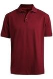 Men's Short Sleeve Soft Touch Blended Pique Polo Burgundy Thumbnail