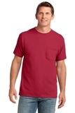 5.4-oz 100 Cotton Pocket T-shirt Red Thumbnail