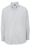 Men's Dress Button Down Oxford LS Grey Stripe Thumbnail