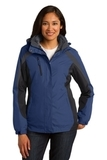 Women's Colorblock 3-in-1 Jacket Admiral Blue with Black and Magnet Thumbnail