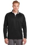 1/4-zip Fleece Pullover Black with Silver Thumbnail
