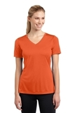 Women's V-neck Competitor Tee Deep Orange Thumbnail