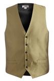 Men's Diamond Brocade Vest Gold Thumbnail