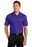 Active Textured Colorblock Polo Purple with Grey Thumbnail