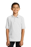 Port Company Youth 5.5-ounce Jersey Knit Polo White Thumbnail