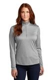 Ladies Endeavor 1/4-Zip Pullover Light Grey Heather Thumbnail