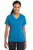Women's Racermesh V-neck Tee Pond Blue Thumbnail