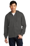 V.I.T.Fleece Full-Zip Hoodie Charcoal Thumbnail