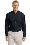Tall Long Sleeve Twill Shirt Classic Navy Thumbnail