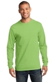Essential Long Sleeve T-shirt Lime Thumbnail
