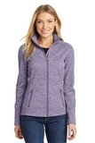 Women's Digi Stripe Fleece Jacket Purple Thumbnail