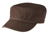 Distressed Military Hat Chocolate Brown Thumbnail
