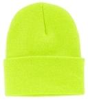 Knit Cap Neon Yellow Thumbnail