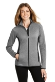Women's Eddie Bauer Full-Zip Heather Stretch Fleece Jacket Grey Heather Thumbnail