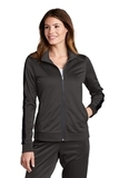 Ladies Tricot Track Jacket Graphite with Black Thumbnail