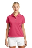 Women's Nike Golf Shirt Tech Basic Dri-FIT Polo Flamingo Thumbnail